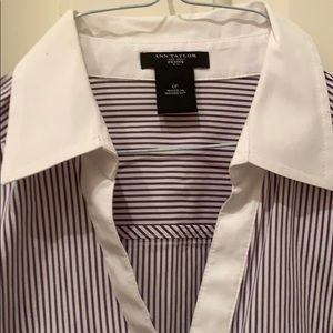 Plum dark purple fitted shirt blouse 0p